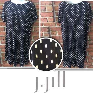 J. Jill Wearever Collection Black Shift Dress XL